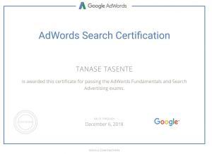 Certificare Google Search