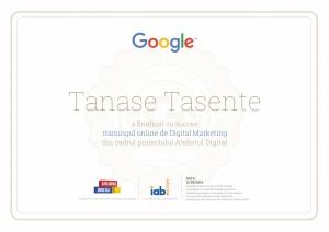 Certificare Google
